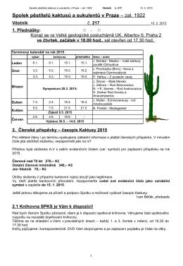 Věstník č. 217 - Spolek pěstitelů kaktusů a sukulentů