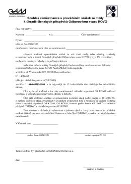 Smlouva o placení čl.příspěvků