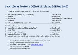 Severočeský MoKon v Děčíně 21. března 2015 od 10:00
