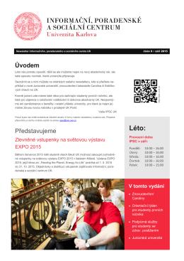 Léto: - Informační, poradenské a sociální centrum