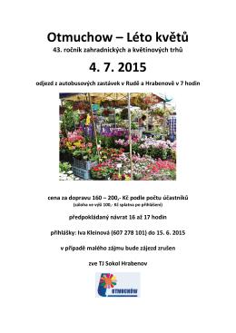 Otmuchow – Léto květů 4. 7. 2015