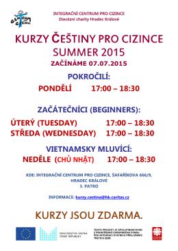 kurzy HRADEC léto 2015