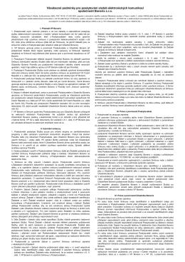 Všeobecné obchodní podmínky společnosti TMT CZECH a