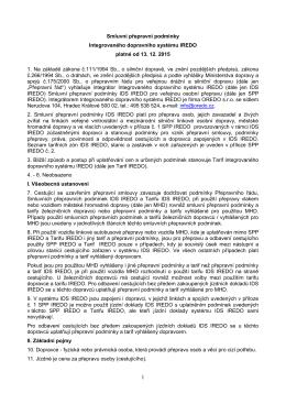 Smluvní přepravní podmínky IDS IREDO od 13.12.2015