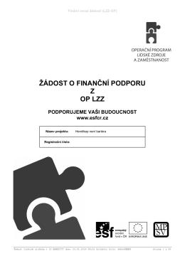 Žádost o poskytnutí dotace