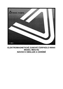 Manuál série MDG-R