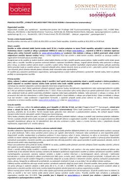 """PRAVIDLA """"Soutěže o 10 dovolenkových pobytů v Rakousku u"""