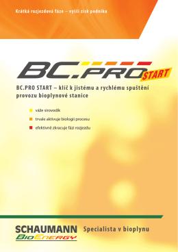 bc.pro start - Bioplyn