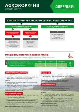Leták -Greening