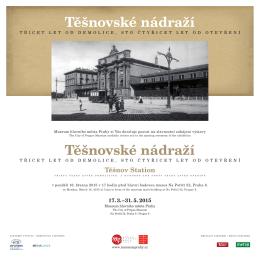 Plakát k výstavě Těšnovské nádraží