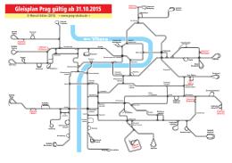 Gleisplan Prag gültig ab 31.10.2015