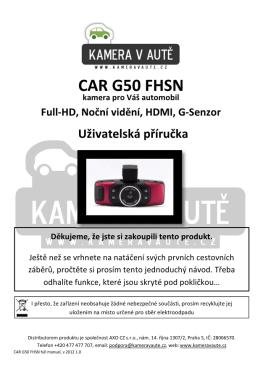 CAR G50 FHSN - Kamera v aute.cz