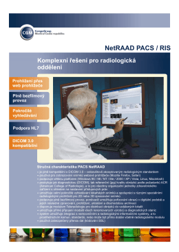 NetRAAD PACS / RIS - CompuGroup Medical