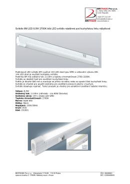 Svítidlo 8M LED 8,5W 2700K bílá LED svítidlo