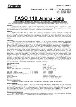 FASO 110 Jemná - bílá - B-port