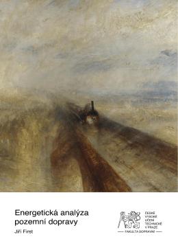 Jiří First: Energetická analýza pozemní dopravy