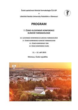 finální program - Česká společnost klinické farmakologie