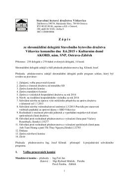 Z á p i s - SBD Vítkovice