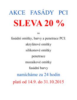 AKCE FASÁDY PCI