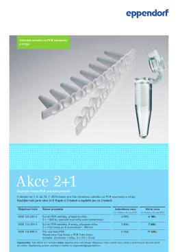 Akce 2+1 na PCR zkumavky a stripy PDF 0.7 MB