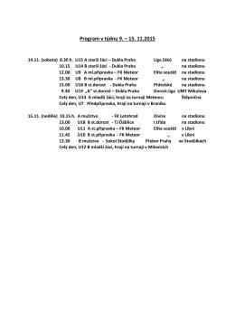 Program 9.-15.11.