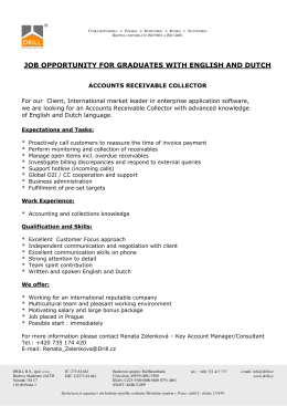 JOB OPPORTUNITY FOR GRADUATES WITH ENGLISH AND DUTCH