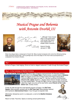 Musical Prague and Bohemia Musical Prague and Bohemia with