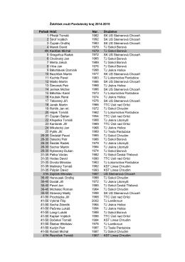 Žebříček muži Pardubický kraj 2014-2015 Pořadí Hráč Nar. Družstvo