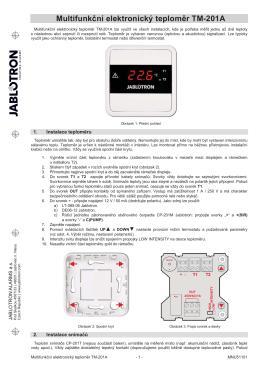TM-201A - Multifunkční elektronický teploměr