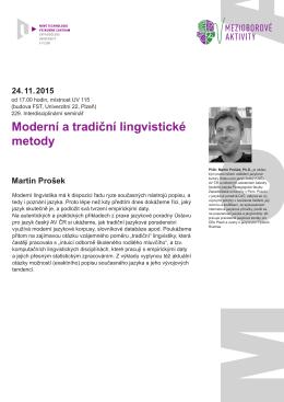 Moderní a tradiční lingvistické metody