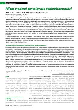 Přínos moderní genetiky pro pediatrickou praxi