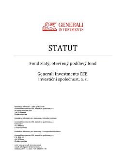 STATUT - ČP Invest