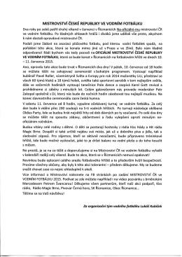 Mistrovství ČR ve vodním fotbálku