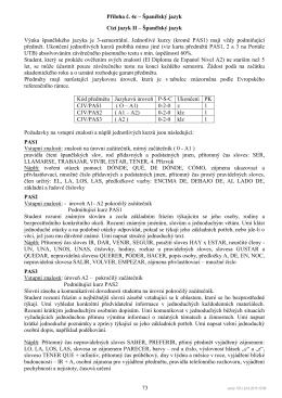 Příloha č. 4c – Španělský jazyk 73 Cizí jazyk II – Španělský jazyk
