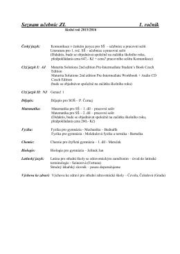 Seznam učebnic Lyceum 1