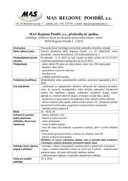VŘ č. 1-2016 - Pracovník SCLLD