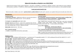 Maturitní zkouška ve školním roce 2013/2014