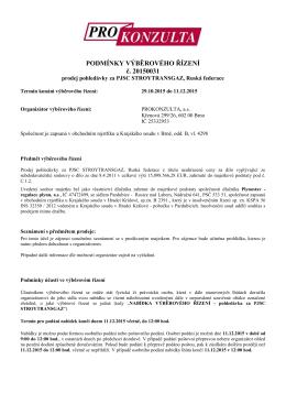 Podmínky VŘ - Prokonzulta.cz