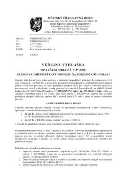 Veřejná vyhláška  - Petrovice I