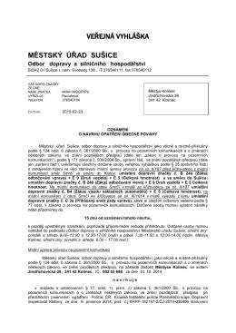 Veřejná vyhláška_MěÚ Sušice_Oznámení o návrhu opatření