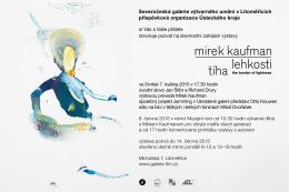 Pozvánka na výstavu - galerie
