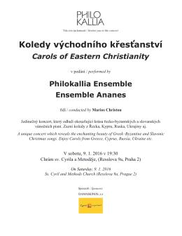 Plakát na koncert v PDF