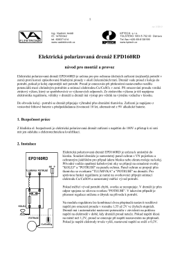 Elektrická polarizovaná drenáž EPD160RD
