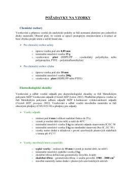 ZL-ATElab | Požadavky na vzorky