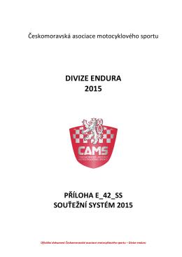Soutěžní systém divize enduro 2015