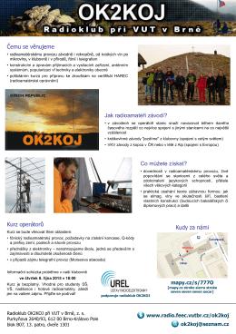 kurzu k získání koncese radioamatérských operátorů