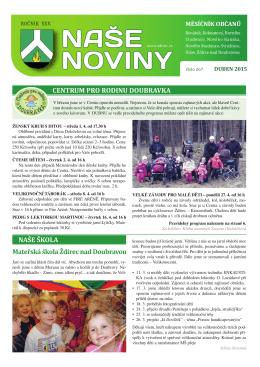 NASE NOVINY - Město Ždírec nad Doubravou