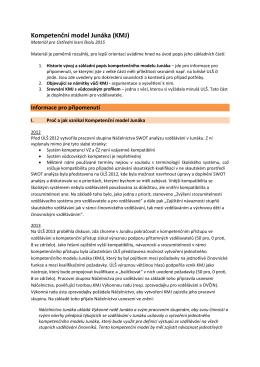 Kompetenční model Junáka (KMJ)