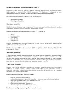 PRILOHA Informace o modelu automobilové dopravy ČR