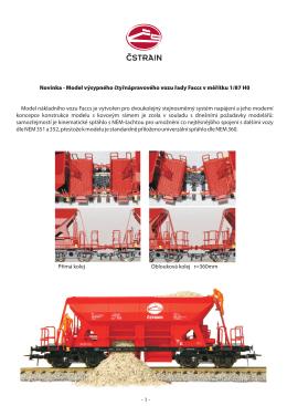Prezentace modelu samovýsypného vozu řady Faccs/ČStrain